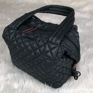 MZ Wallace Small Sutton black quilted handbag